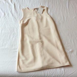 ASOS 60's Shift Dress Light Pink Ribbed Texture